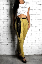 Mustard High Waisted Twisted Jeans | Women's Jeans | Alex Christopher