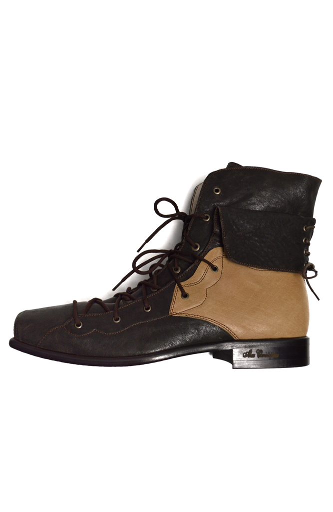 Two Tone Boots - Brown