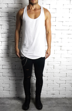 White Piped Racer Back Vest | Ibiza Vests | Alex Christopher