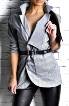Grey Pinstripe Suit Blazer | Womens Blazers | Alex Christopher