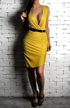 Yellow Leather Strip Dress | Women's Unique Dresses | Alex Christopher