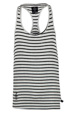 Sketch Logo Ibiza Vest - Grey/Black Stripe