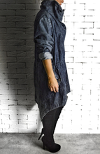 Trench Coat - Washed Denim