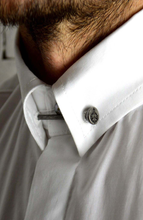 Short Sleeve Collar Pin Shirt - White