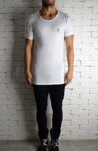 White Sketch Logo Crew Neck | Mens T-Shirts | Alex Christopher