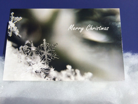 Christmas Greeting Card, Christmas Snow Crystal,