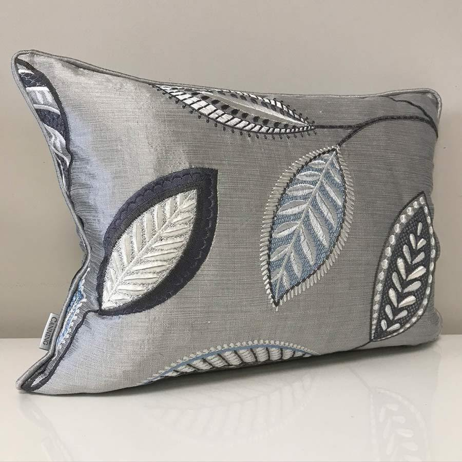 Colefax and Fowler Embroidered Silk Cushion