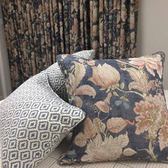 Geometric Meets Floral - On Trend Sitting Room Curtains and Cushions