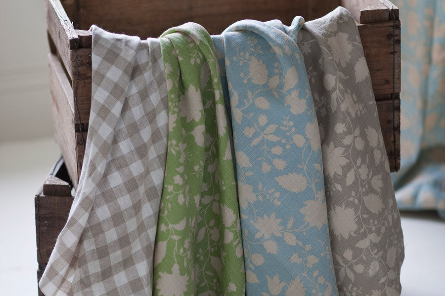 Featured Fabric Of The Week - Speedwell Duck Egg Linen