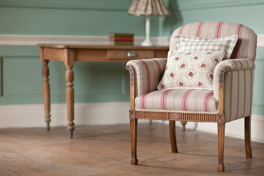 Fabric of the Week - Woven Linen Ticking Cardinal