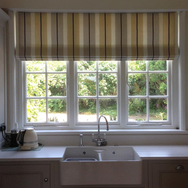 Striped Roman Blinds