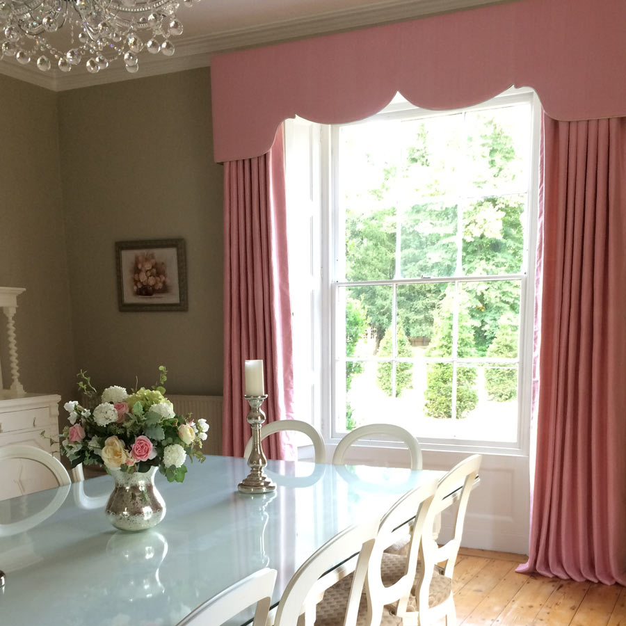 Exquisite Silk For This Elegant and Feminine Dining Room