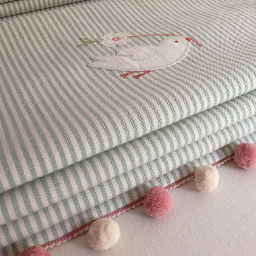 Sweetest Embroidered Roman Blinds for a Special Little Girl