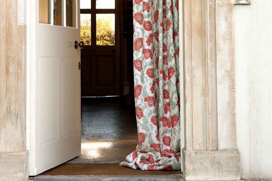 Poppies Rouge Clair by Designer Emily Burningham