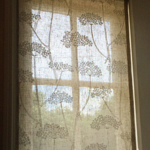 embroidered hand sewn curtain panel