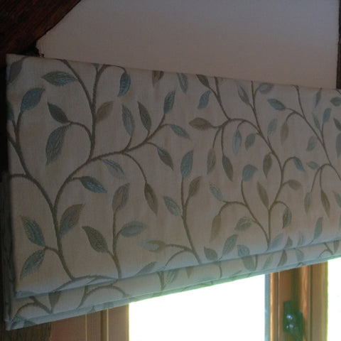 hand sewn interlined roman blinds, Suffolk
