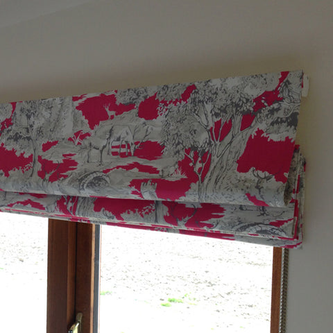 handmade roman blinds by bespoke curtain makers Suffolk