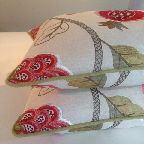 handmade cushions by bespoke curtain makers