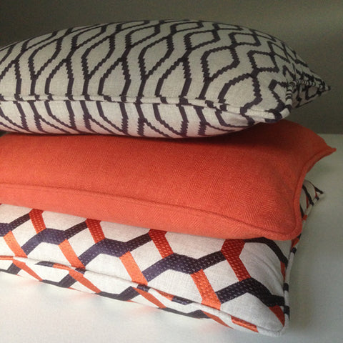 handmade cushions by bespoke curtain makers Suffolk