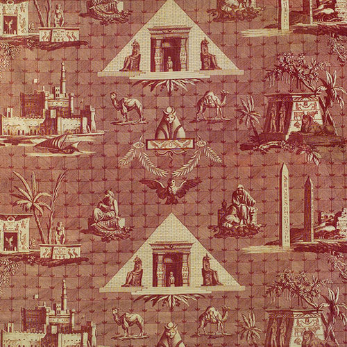 egyptian toile fabric design