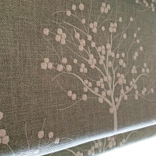 duckegg linen embroidered curtain fabric roman blind