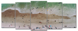 Beach - I was there 5pcs Wall Art