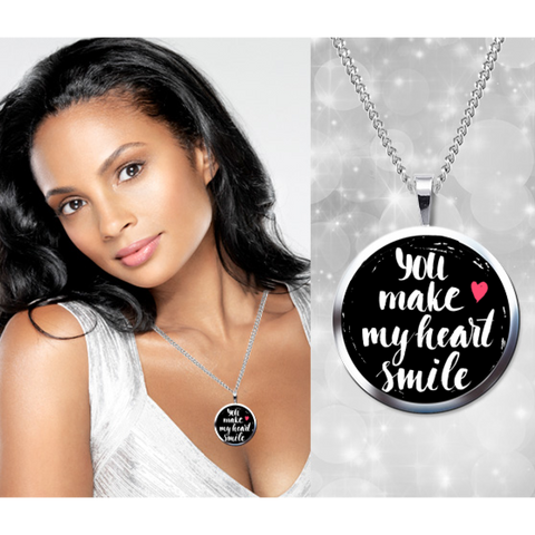 My heart smile necklace
