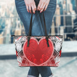 HEARTBEAT LEATHER TOTE