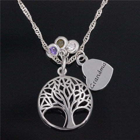 Silver Life Tree Necklace
