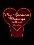 Personalize My Greatest Blessings Night Light - free shipping
