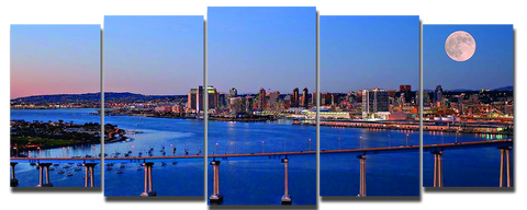 City Skyline San Diego 5pcs Wall Art