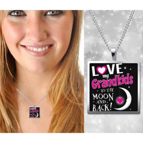 Grandma Moon and Back Necklace Pendant