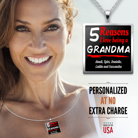 Reasons I love being a Grandma Pendant Jewelry