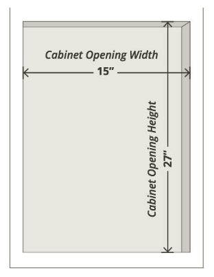 How to measure for replacement Cabinet Doors and Drawer Fronts