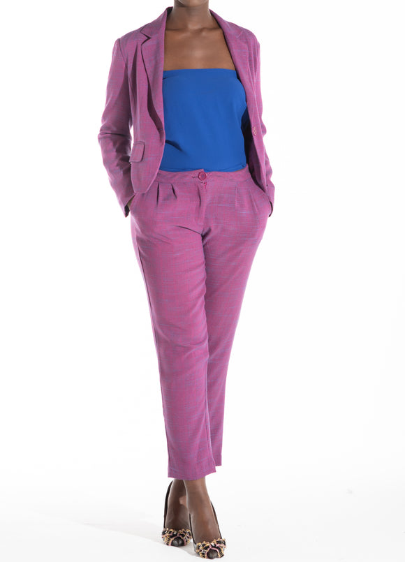 choko's 7/8 purple pants suit