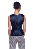 Navy Peplum top