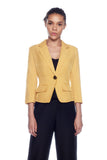 Choko Yellow 3/4th Jacket