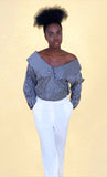 choko's silk off shoulder Blouse