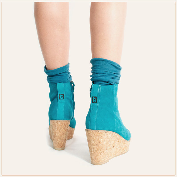 Teal Ankle Wedge Bootie - TSouls