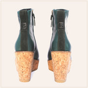 Cork leather Booties - TSouls, boots, Sustainable shoes, high quality boots