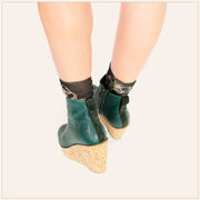 Green Ankle Wedge Bootie - TSouls