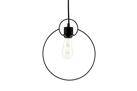 Black Circle Lamp Shade