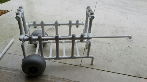 Folding PVC Fishing Cart