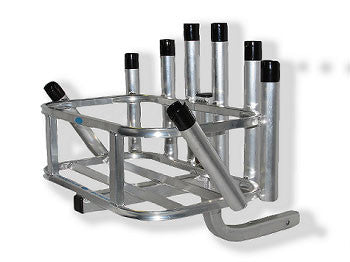 Rod Rack 8 Rod Holder Hitch Mount Reels On Wheels by CPI Designs