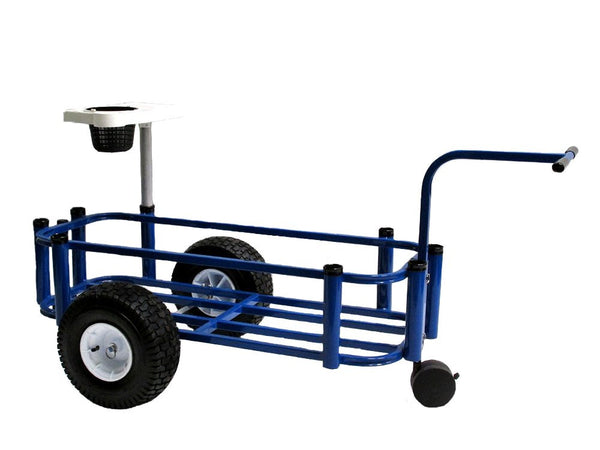 Blue fishing cart