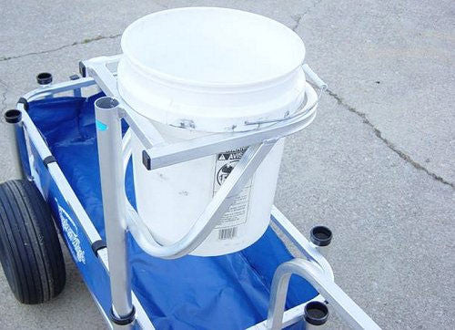 Reels on Wheels Beach Fishing Cart Bucket Holder