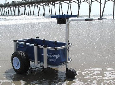 Blue fishing cart liner for Reels on Wheels Jr.