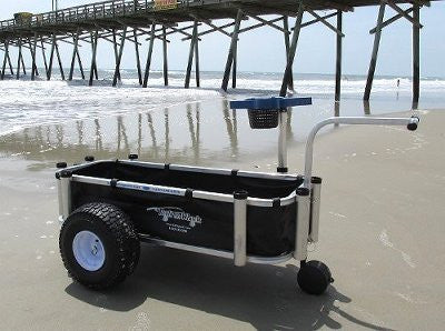 Black fishing cart liner for Reels on Wheels Sr.