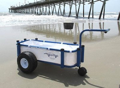 White fishing cart liner for Reels on Wheels Sr.