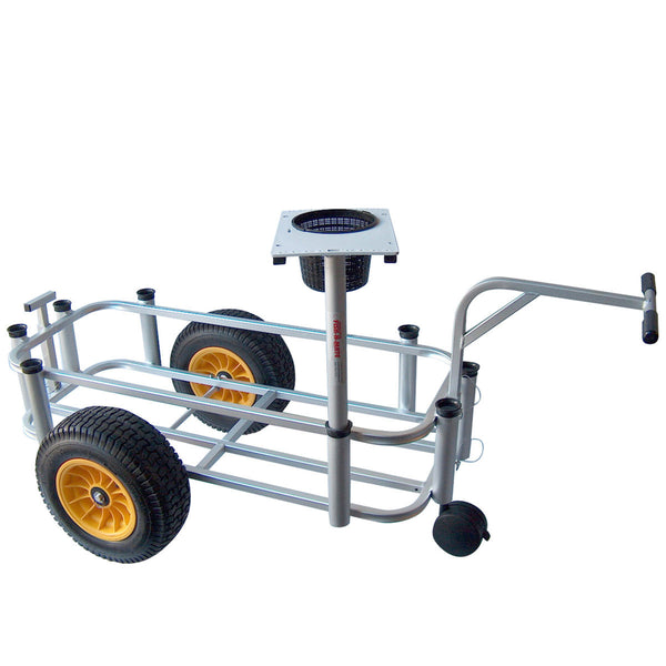 Large fishing cart with front caster